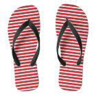 Red, White and Black Stripes Flip Flops