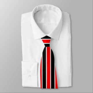 Red White and Black Stripes Tie