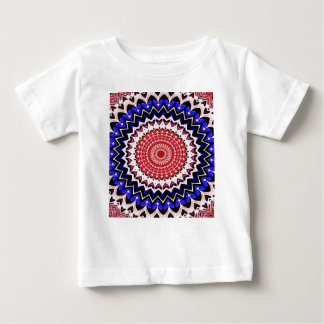 Red White and Blue 4th of July Mandala Pattern Baby T-Shirt