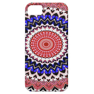 Red White and Blue 4th of July Mandala Pattern Case For The iPhone 5
