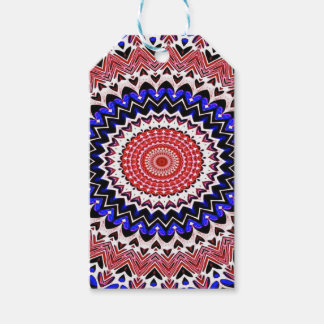Red White and Blue 4th of July Mandala Pattern Pack Of Gift Tags