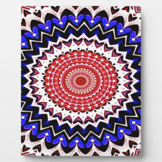 Red White and Blue 4th of July Mandala Pattern Plaque