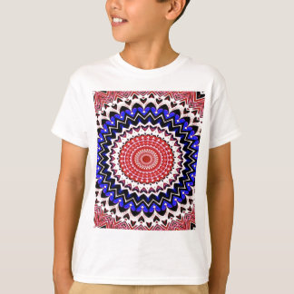 Red White and Blue 4th of July Mandala Pattern T-Shirt