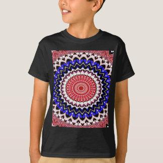Red White and Blue 4th of July Mandala Pattern T-Shirt