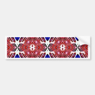 Red White and Blue 4th of July Tribal Pattern Bumper Sticker