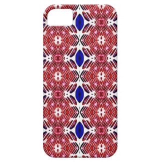 Red White and Blue 4th of July Tribal Pattern Case For The iPhone 5