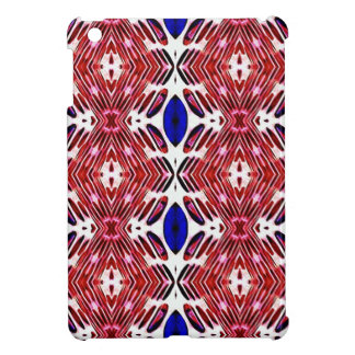 Red White and Blue 4th of July Tribal Pattern iPad Mini Cover