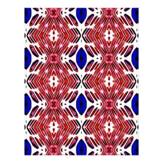 Red White and Blue 4th of July Tribal Pattern Letterhead