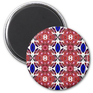 Red White and Blue 4th of July Tribal Pattern Magnet
