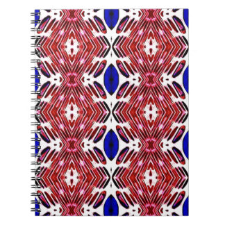 Red White and Blue 4th of July Tribal Pattern Notebook
