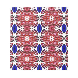 Red White and Blue 4th of July Tribal Pattern Notepad