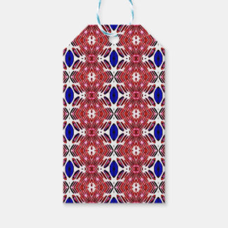Red White and Blue 4th of July Tribal Pattern Pack Of Gift Tags