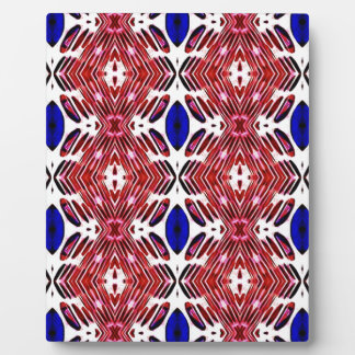 Red White and Blue 4th of July Tribal Pattern Plaque
