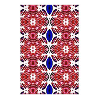 Red White and Blue 4th of July Tribal Pattern Stationery