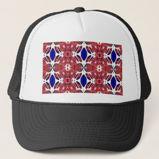 Red White and Blue 4th of July Tribal Pattern Trucker Hat