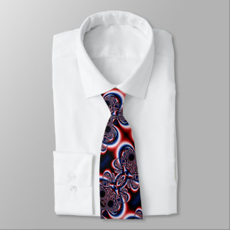 Red white and blue abstract tie