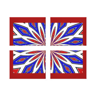 Red White and Blue Abstract Wrapped Canvas/Custom Canvas Print