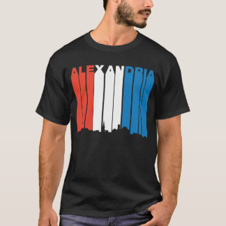 Red White And Blue Alexandria Virginia Skyline T-Shirt