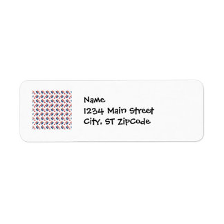 Red White and Blue All American Pattern Return Address Label