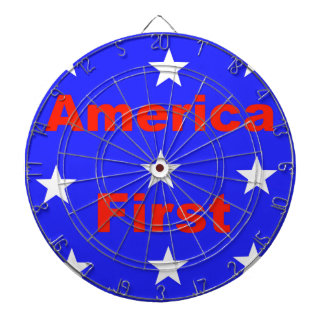 "Red, White, And Blue ""America First"" Design Dartboard"