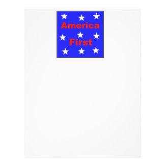 "Red, White, And Blue ""America First"" Design Letterhead"