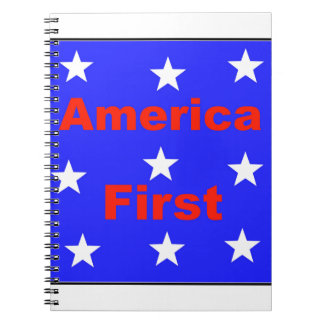 """Red, White, And Blue """"America First"""" Design Notebook"""