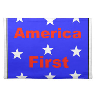 """Red, White, And Blue """"America First"""" Design Placemat"""