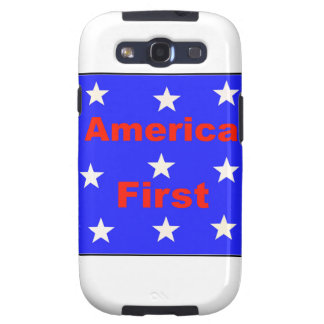 """Red, White, And Blue """"America First"""" Design Samsung Galaxy S3 Covers"""