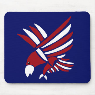 Red, White, and Blue American Eagle Art Mousepads