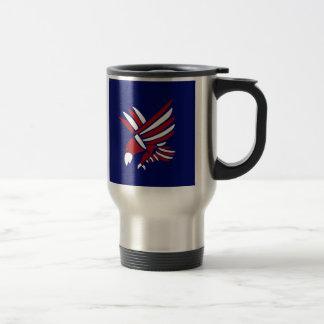 Red, White, and Blue American Eagle Art Coffee Mug