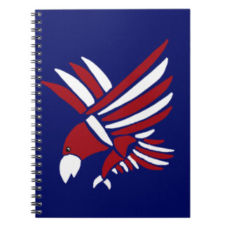 Red White and Blue American Eagle Art Note Book