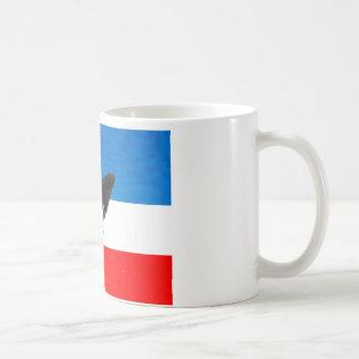 RED WHITE AND BLUE AMERICAN EAGLE COFFEE MUG