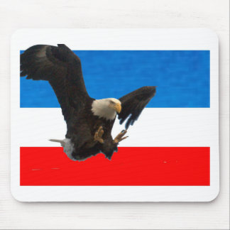 RED WHITE AND BLUE AMERICAN EAGLE MOUSE PAD