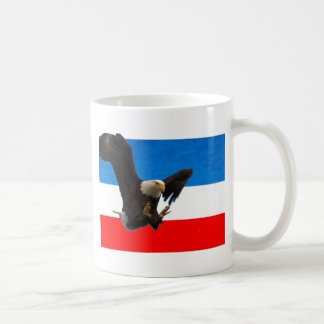 RED WHITE AND BLUE AMERICAN EAGLE COFFEE MUGS