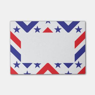 Red White and Blue American July 4 Party Sticky Note
