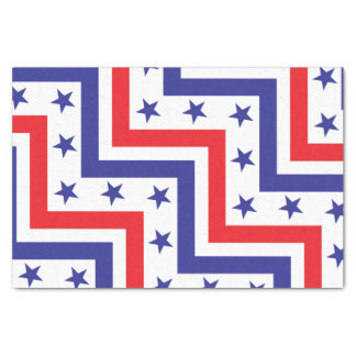 Red White and Blue American July 4 Party Tissue Paper
