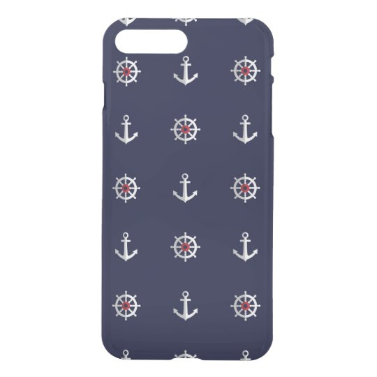 Red White And Blue Anchor Pattern iPhone 7 Plus Case