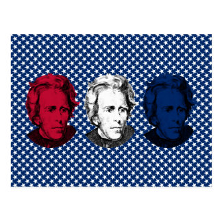 Red, White, and Blue -- Andrew Jackson with Stars Post Cards