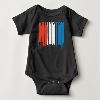 Red White And Blue Arlington Texas Skyline Baby Bodysuit