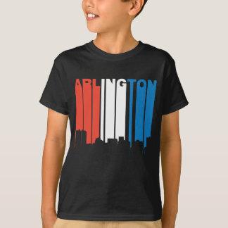 Red White And Blue Arlington Texas Skyline T-Shirt