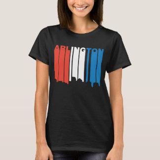 Red White And Blue Arlington Virginia Skyline T-Shirt