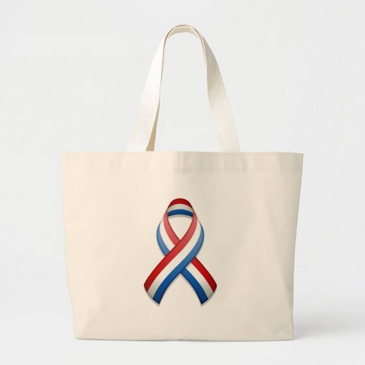 Red, White, and Blue Awareness Ribbon Bag