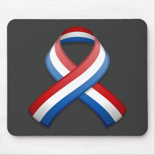 Red, White, and Blue Awareness Ribbon Mousepad