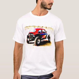 red white and blue baja bug in all categories T-Shirt