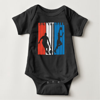 Red White And Blue Basketball Baby Bodysuit