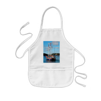 Red, White and Blue Boat at St. Thomas Kids Apron