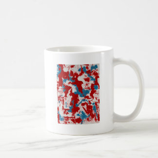 Red, White and Blue Brushstrokes Coffee Mug