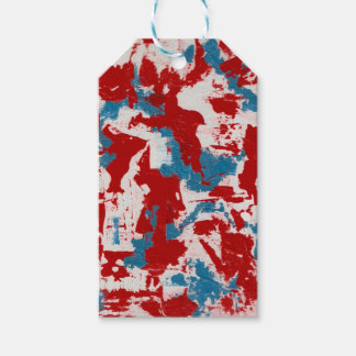 Red, White and Blue Brushstrokes Gift Tags
