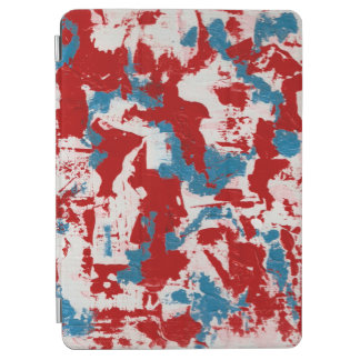 Red, White and Blue Brushstrokes iPad Air Cover
