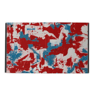 Red, White and Blue Brushstrokes iPad Cases
